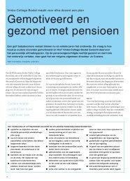 Gemotiveerd en gezond met pensioen - Voion