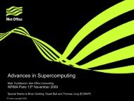 Advances in Supercomputing - Weather Risk Management ...