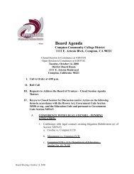 Board Agenda - El Camino College Compton Center