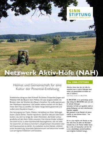 Netzwerk Aktiv-Höfe (NAH) - Sinn-Stiftung
