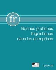 Bonnes pratiques linguistiques dans les entreprises - Délégation ...