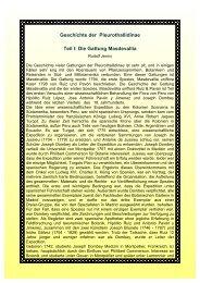 Geschichte der Pleurothallidinae Teil l: Die Gattung Masdevallia