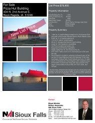 Pizza Hut Spec Sheet.pub - Sioux Falls Commercial Real Estate