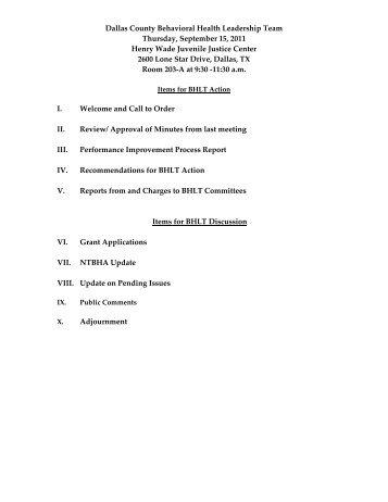 BHLT Agenda Packet Sept 2011.pdf - Dallas County Behavioral ...