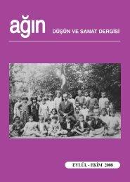düşün ve sanat dergisi eylül - ekim 2008 - Ankara Ağın Derneği