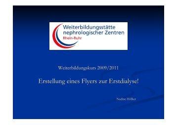 Erstellung eines Flyers zur Erstdialyse! - WB-nephro.de