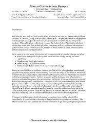Parent Letter for All Hazards Plan - Mifflin County School District