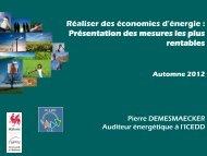 Présentation de Pierre Demesmaecker, Auditeur énergétique à l ...