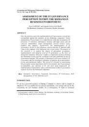 assessment of the it governance perception within the romanian ...
