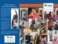 Family Services Brochure - Habitat for Humanity of the Chesapeake