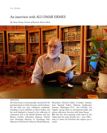 An interview with ALI OMAR ERMES - Contemporary Practices