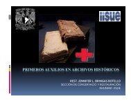 Primeros auxilios para documentos y libros - Archivo General de la ...