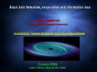 Dejan Stojkovic (Case Western Reserve University) - cosmo 06