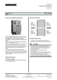 Siemens RS232 Interface N 148/02 Data Sheet - siemens knx ...