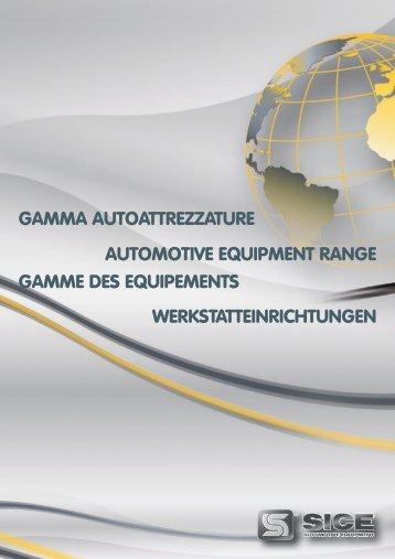 gamma autoattrezzature gamme des equipements ... - Sice S.p.A.