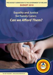 Download PreBudget Submission - Carers Association