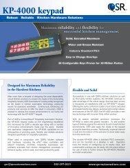 QSR KP-4000 keypad brochure - Abacus Business Solutions