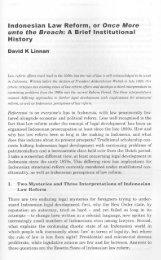 David K Linnan, Indonesian Law Reform, or Once More unto ... - LFIP