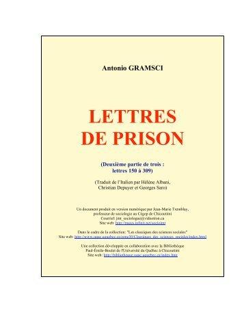 Lettres de prison 2/3 - Les Classiques des sciences sociales - UQAC