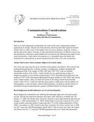 Communications Considerations - National Resource Center for ...