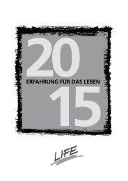 LIFE Jugendhilfe Kalender 2015