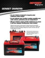 Genset Brochure - ODYSSEY Batteries
