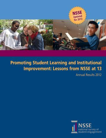 NSSE Annual Results 2012