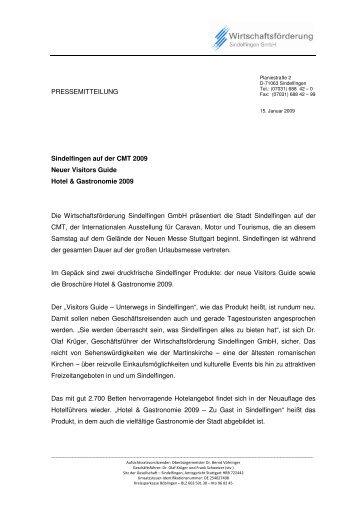 PM CMT 2009 - Wirtschaftsförderung Sindelfingen GmbH