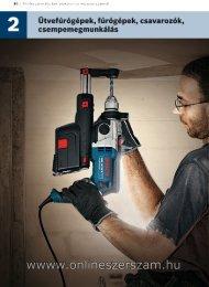 Ütvefúrógépek, fúrógépek, csavarozók - Bosch