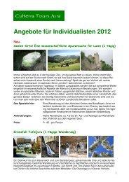 Individualisten 2012a - Culterra Tours