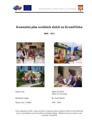 Komunitní plán sociálních služeb na Kroměřížsku - Město Kroměříž