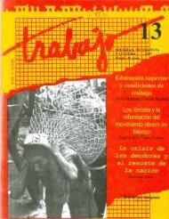 Revista Trabajo No. 13. 1997. Los foristas y la ... - UAM Iztapalapa