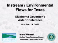 Instream / Environmental Flows for Texas - Water Resources Board