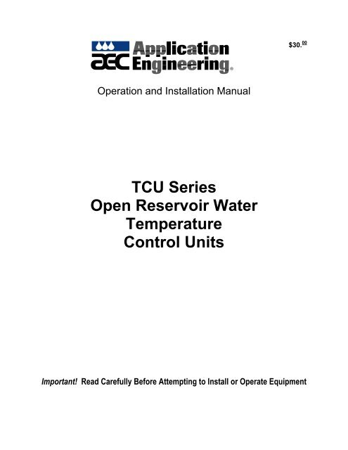 TCU Series Open Reservoir Water Temperature Control Units