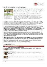 Asyl-Getto wird verschwinden | Westfälische Nachrichten - Aktion 302