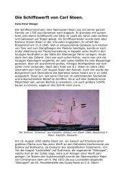 Die Schiffswerft von Carl Steen. - Eckhard Schmidt - Kappeln/Schlei