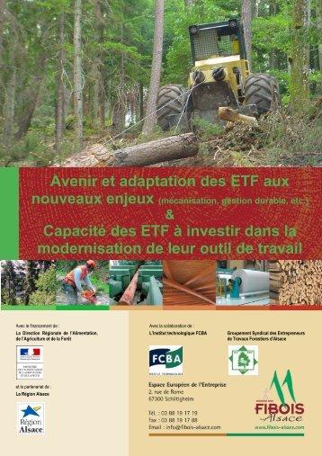 Avenir et adaptation des ETF aux nouveaux enjeux - FIBOIS Alsace