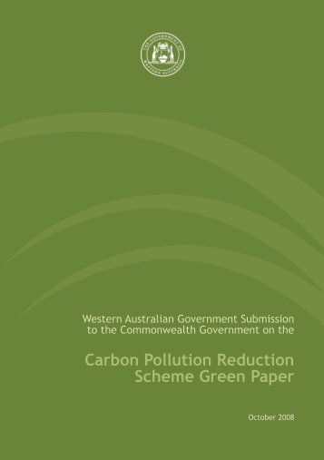 Carbon Pollution Reduction Scheme Green Paper - Department of ...