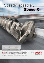 Speedy, speedier, Speed X - Bosch
