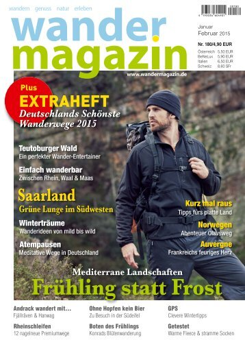 Wandermagazin, Ausgabe Januar-Februar 2015
