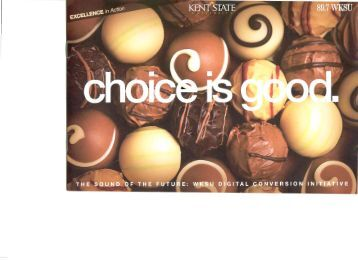 WKSU's campaign brochure - Major Giving Initiative