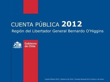 Cuenta Pública (pdf) - Consejo Nacional de la Cultura y las Artes