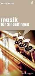 Klavier &Lyrik 2012 - bei der Stadt Sindelfingen
