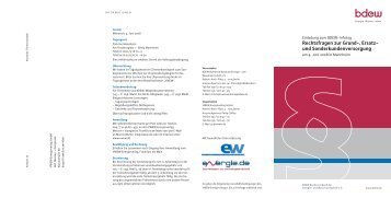 Rechtsfragen zur Grund-, Ersatz- und Sonderkundenversorgung - TAM