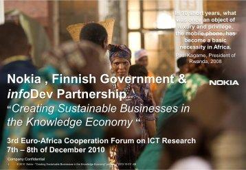 Nokia , Finnish Government & infoDev Partnership - EuroAfrica-ICT