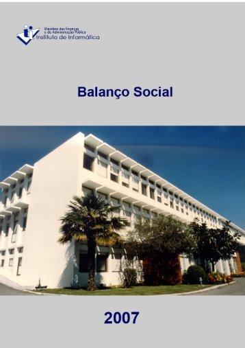 Balanço Social de 2007 - Instituto de Informática