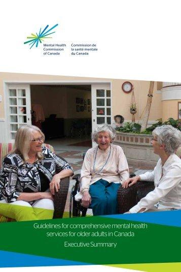 Guidelines for comprehensive mental health services for older ...
