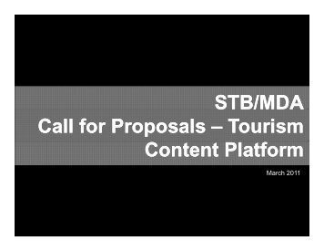 STB/MDA Call for Proposals - Interactive Digital Media R&D ...