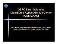 GSFC Earth Sciences Distributed Active Archive Center (GES DAAC)