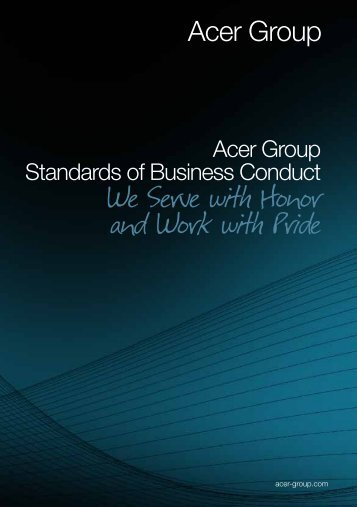 Acer Group Standards of Business Conduct
